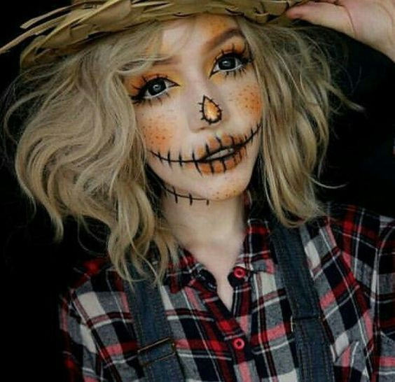 Se un #espantapájaros este #halloween #scarecrow #halloweenmakeup
