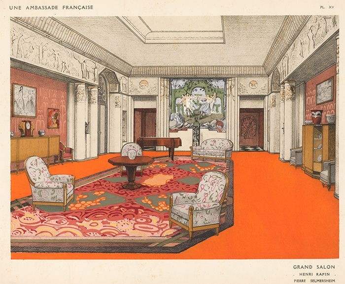 Grand Salon By Henri Rapin Pierre Selmersheim Une Ambassade Francaise Rene Chavance On Ursus Books Ltd