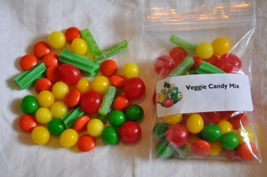 Veggie candy mix, Veggie Tales B-day. {Annie's 3rd bday}