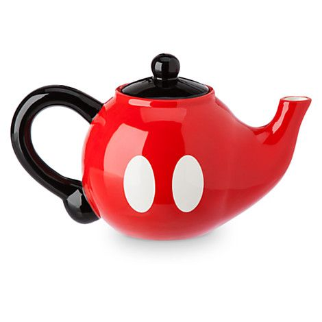 Mickey will be inviting you over to tea in short order with this ceramic teapot shaped in the image of his famous red pants. It's part of our Colorful Kitchen Collection that will help put a smile ...