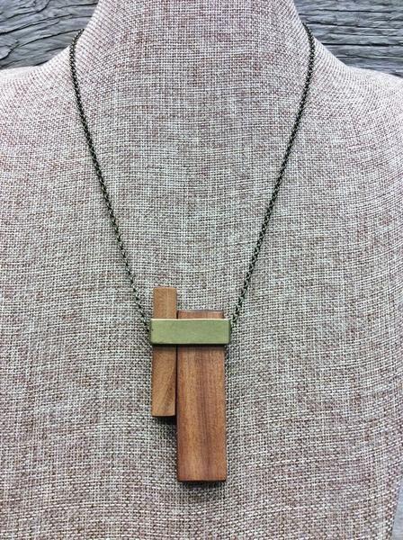 Collier court - rectangles de bois