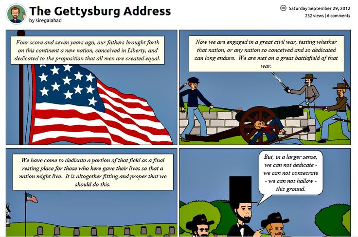 Our Presidents' Day Comic of the Week: Gettysburg Address