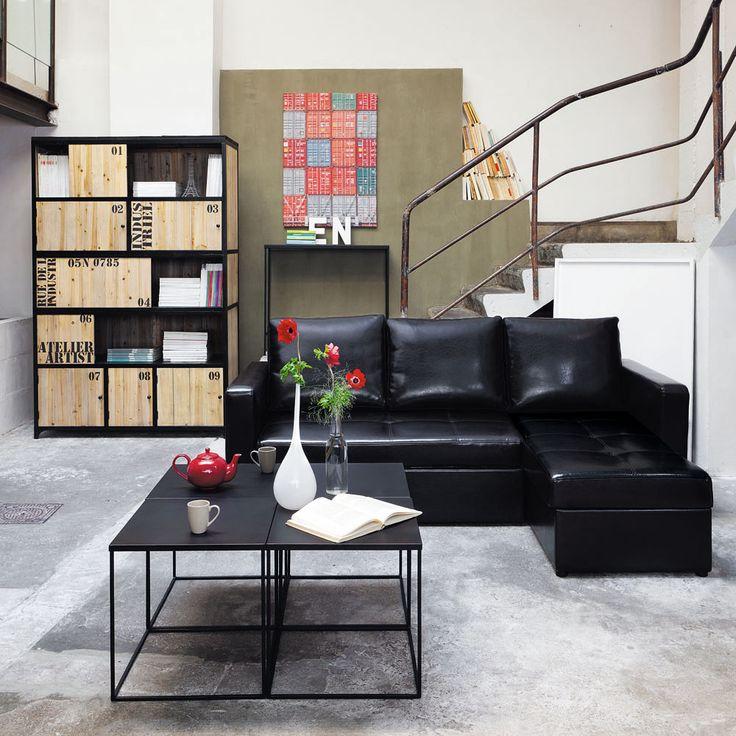 Zwarte metalen boekenkast B 130 cm Docks | Maisons du Monde