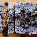 Raw bosbessen cake