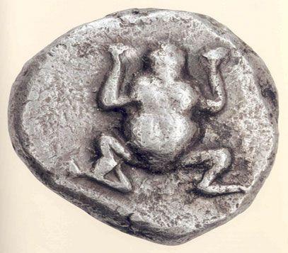 Statere - argento - Serifos (ca.530 a.C.) - una rana (che Pausania associa al culto di Perseo) - mercato antiquario rare coins