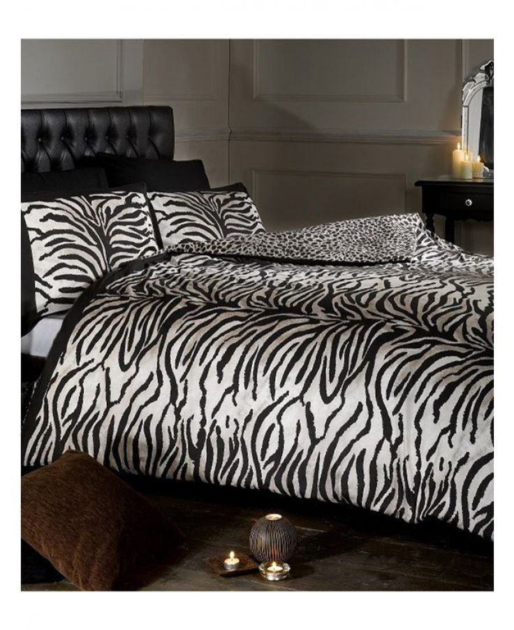 This stylish Savannah Tiger and Leopard Print Reversible Single Duvet Cover Set has a tiger print design on the front and leopard on the reverse. Free UK delivery available