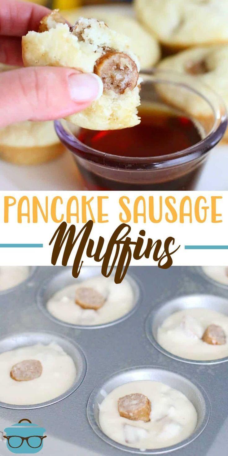 Easy pancake sausage muffins