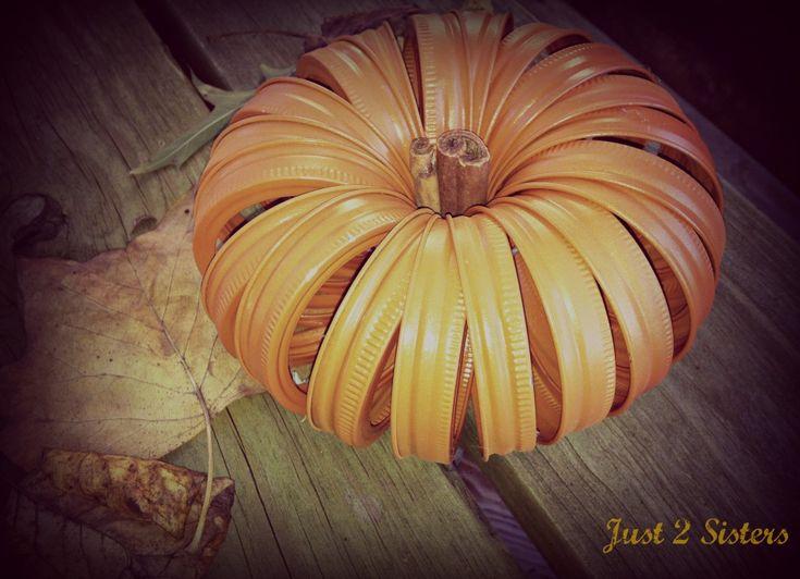 Mason Jar Ring Crafts – Fall Pumpkin #crafts #fall #pumpkin