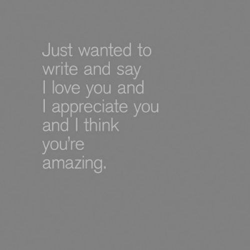 I love and appreciate you <3 I don't express this nearly enough!!!! : )