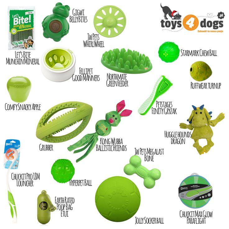 Zielony to kolor optymistów!  #zabawki #zielony #dlapsa #toys4dogs
