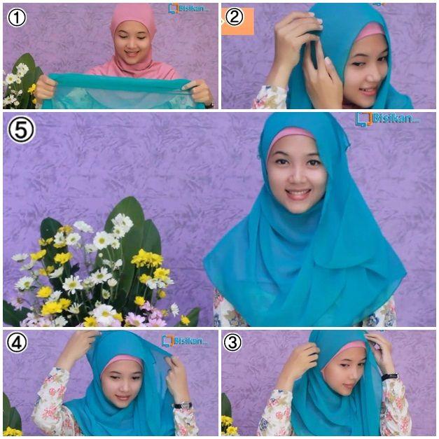 Tutorial Hijab Pashmina Simple #4/ Wide Shawl Hijab Tutorial Simple Style #4