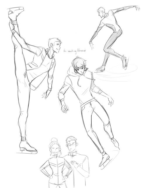 more sketches >:) Fic: on thin ice ;)