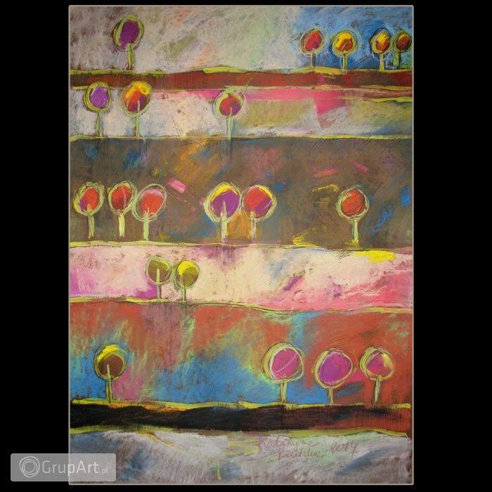 Grupart.pl - pejzaż 7 - rysunek pastelami suchymi - Na ścianę - Rysunek i grafika