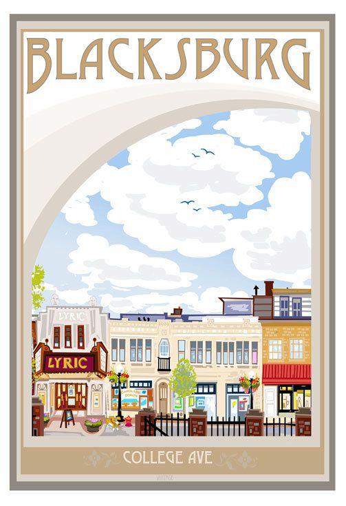 College Avenue Blacksburg. LOVE THIS!