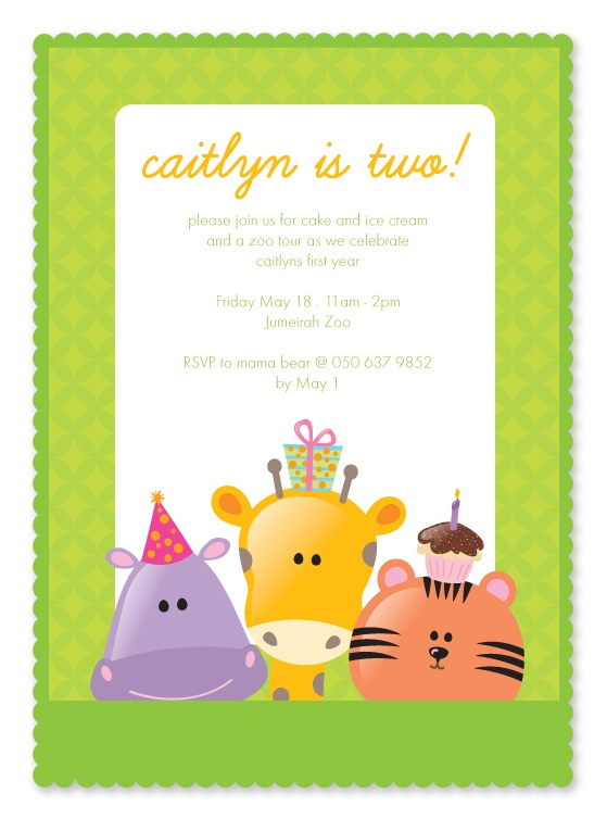 Caitlyn's zoo party