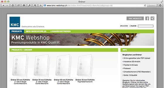 Produzieren Sie Ihre individuellen Ordner selbst – vom Sofa aus! http://www.kmc.ch/de/newsletter/individuelle-ordner.html