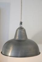 Industrilampa i matt silver Bloomingville - shabby chic, lantlig inredning, lantlig stil, lantstil,fransk lantlig inredning, industristil, house doctor, madam stoltz, present, inredning, trädgård, fågelbur