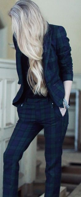 "Zara-pale Tartan suit. I know it's Zara, but it's still a little bit punk. Maybe ""punque."""