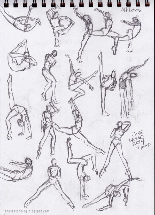 Dibujo gestual a lápiz. Pose study drawing in pencil.