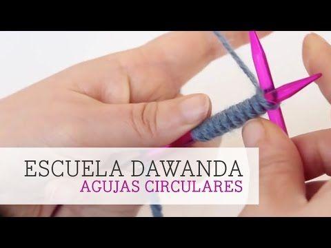 Escuela DaWanda: Montar puntos en agujas circulares - YouTube