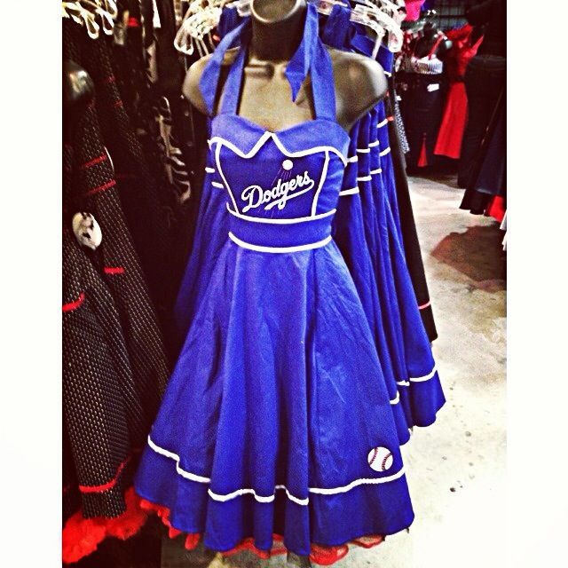 Dodgers Dress.. Gotta find a real True Blue Dodgers girl to fit this