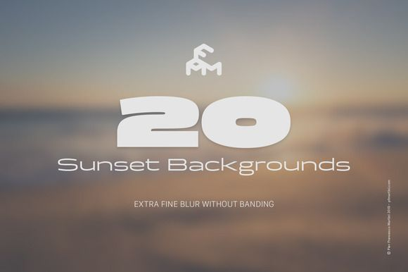 20 Blurred Sunset (Backgrounds) by MARTINI Type Designer on Creative Market