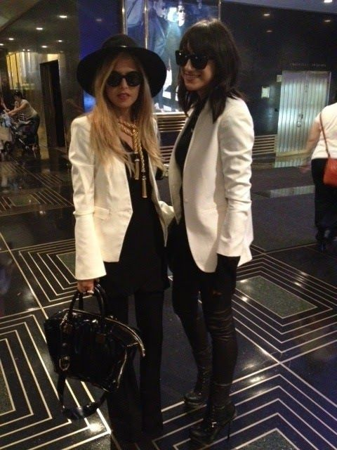 Modern Style Icon: Rachel Zoe via La Dolce Vita.  women's fashion and street style.  menswear inspired outfits.