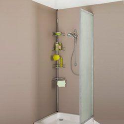 Prateleira de canto extensível para banheira ou poliban