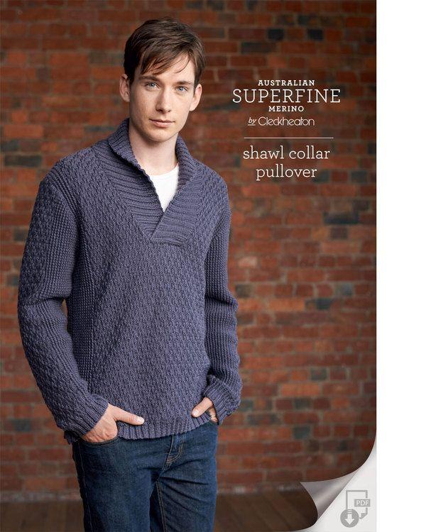 Shawl Collar Pullover Pattern