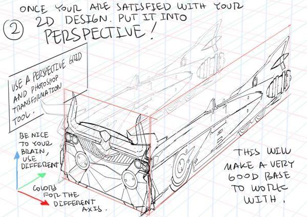 "ThomasRomain ロマン・トマ on Twitter: ""デジタルでメカを描く方法!キャノンバスターズという日米アニメプロジェクトの主役メカ車「ベシー」のデザイン手法。 My method to draw mechanical designs without 3D modeling. http://t.co/YcnJAaYZGw"""