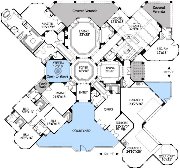 1000 images about floor plan on pinterest luxury house for Perfect for corner lot house plans