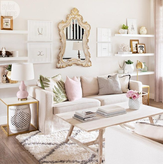 Mix And Chic A Lifestyle Blogger S Effortlessly Beautiful Alberta Home Feminine Living Rooms