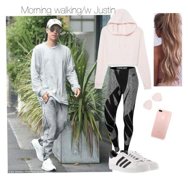 """Morning walking"" by andrea-levander on Polyvore featuring Justin Bieber, NIKE, adidas and JustinBieber"