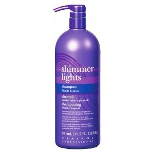 Shimmer lights toner shampoo for light blonde white or gray hair. $13.99
