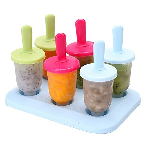 CHICHIC Set of 6 DIY Popsicle Molds Ice Pop Maker Ice Pop Molds Repeated Use (Mixed Color Small) http://ift.tt/2jH1gHC