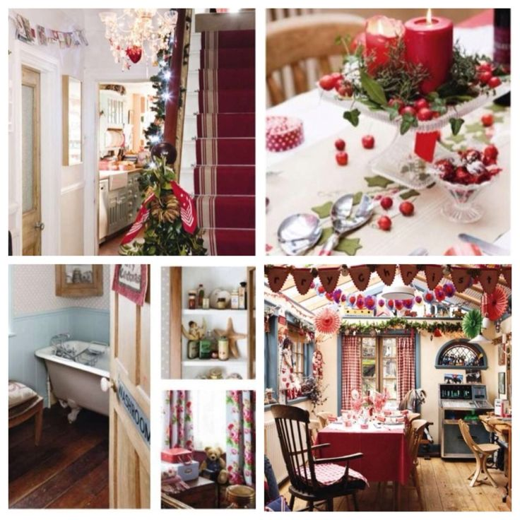country chic christmas decorating UK Christmas