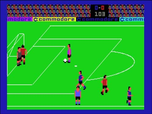 International Soccer (Commodore 64) loved watching a computer match!