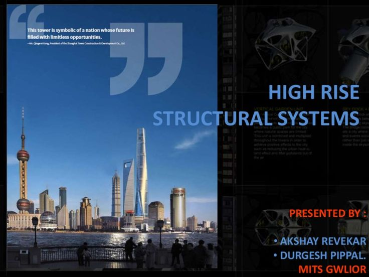 This ppt is all about the high-rise structural systems and the methods of…