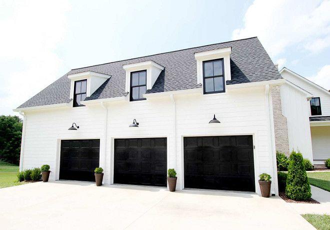 Beautiful Homes Of Instagram Plank And Pillow Jamie Steele Blog Garage Door Design Modern Farmhouse Exterior Garage Doors