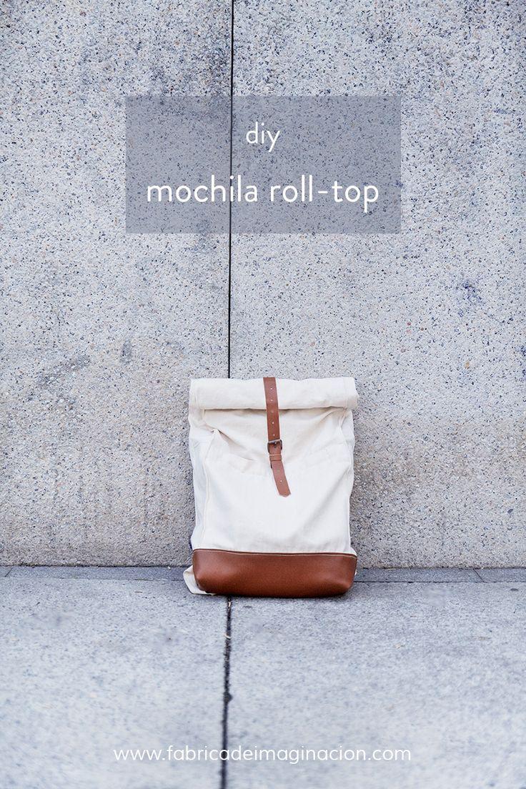 diy hazlo tu misma mochila roll top. Rucksack nähen. Hier geht's zu einem DIY-Tutorial dazu.