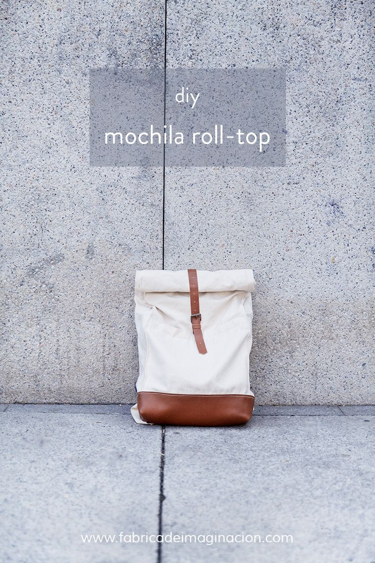 DIY Fábrica de imaginación | DIY Roll-top backpack free pattern