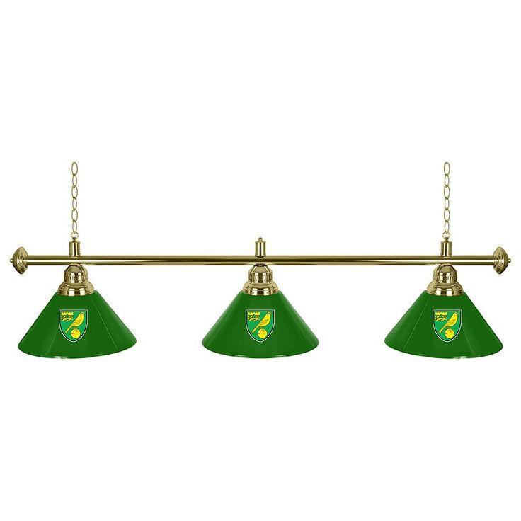 Norwich City FC Chrome Bar Lamp, Green