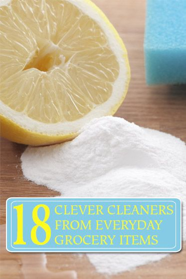 Clever Cleaners from Grocery Items Idea Box by Bev @ The Make Your Own Zone | Pinterest | Grocery items, Clever and Household