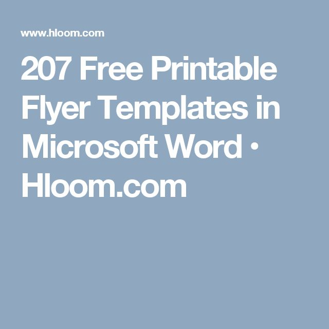207 Free Printable Flyer Templates in Microsoft Word • Hloom.com