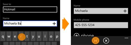 Add a contact on Windows Phone