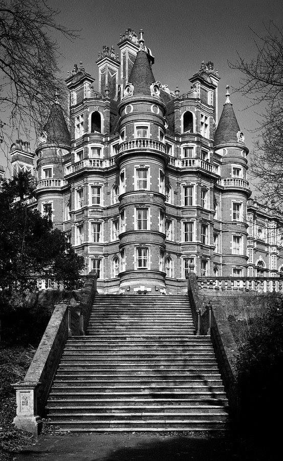 This is Royal Holloway University of London, not an abandoned mansion - but still incredibly beautiful.