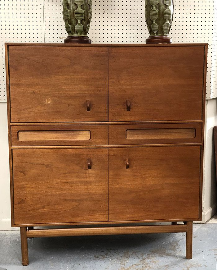Mid Century Modern Teak Cabinet Two Drawers Four Doors 425 Mid Century Dallas Booth 766 Lula B S 1010 Mid Century Furniture Century Furniture Furniture
