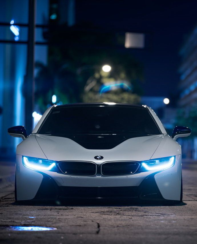 BMW i8 - Love the look of those headlights. The future is here with headlights staring into your soul