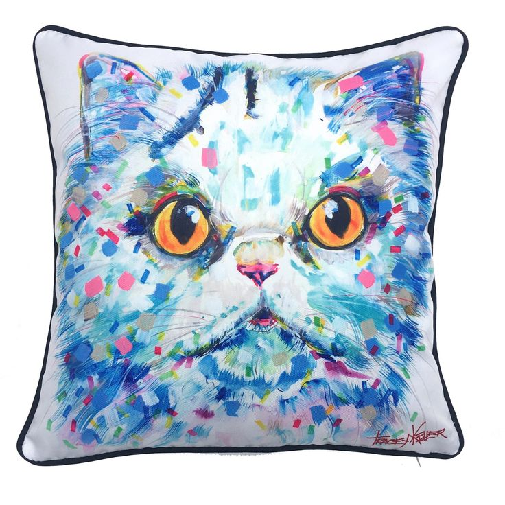 Cat Indoor/Outdoor Cushion Cover - Tracey Keller