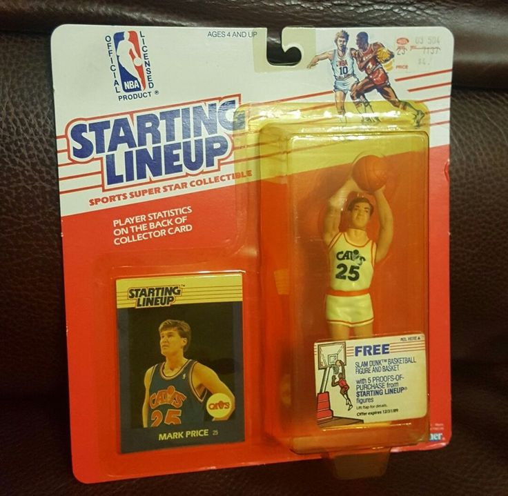 MARK PRICE Starting Lineup 1988 UNOPENED Cleveland Cavaliers NBA Figure Card #KENNER #ClevelandCavaliers